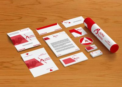 branding alpha business mock up